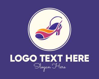 Shoemaking - Lady Fashion Sandal logo design