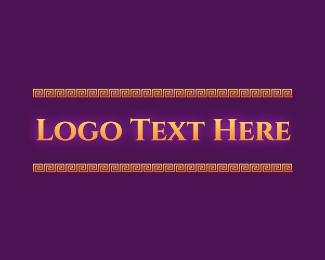 Glowing - Elegant Glow Vintage Text logo design