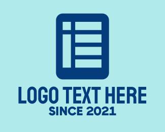 Newspaper - Blue Financial Report logo design