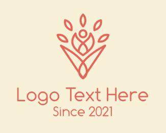 Stack - Spiritual Yoga Flower logo design