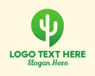 Middle East - Green Cactus Plant logo design