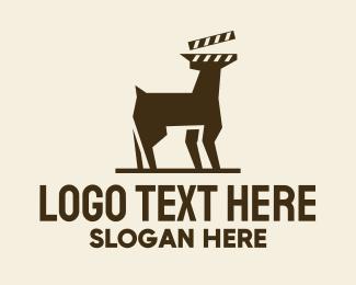 Movie - Deer Movie Clapboard logo design