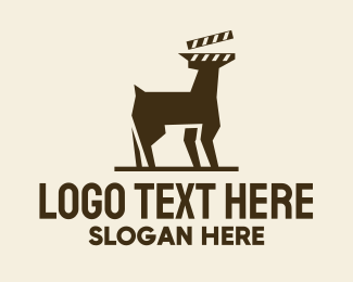 Film Showing - Deer Movie Clapboard logo design
