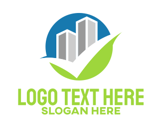 Tick - Buildings Check logo design