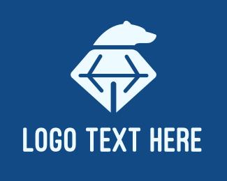Mining - Diamond Bear Head  logo design