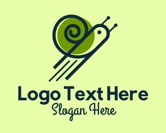 Pest - Flying Snail logo design
