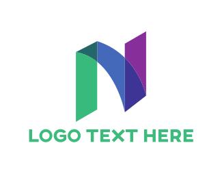 Letter N - Marker Letter N logo design