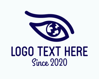 Earth - Blue Earth Eye logo design