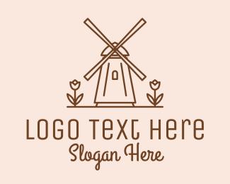 Travel Destination - Amsterdam Windmill  logo design