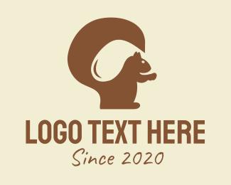 Golf Club - Brown Squirrel logo design