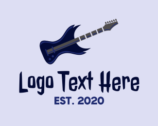 Electric Guitar - Electric Guitar Solo logo design