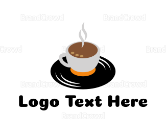 Cafe - Vinyl Cafe logo design