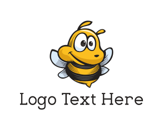 Cute Bee Mascot Logo