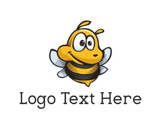 Honeybee - Cute Bee Mascot logo design