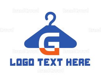 Dry Cleaner - G Hanger  logo design