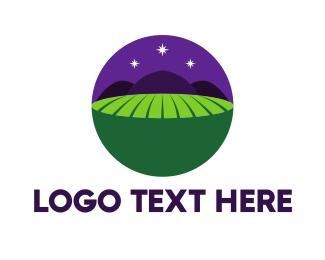 Purple Circle - Night Field logo design