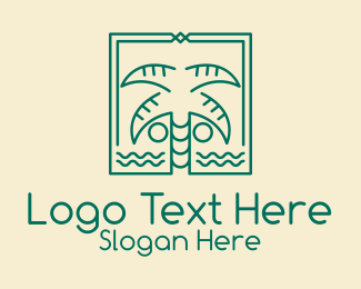 Tree - Minimalist Palm Tree logo design