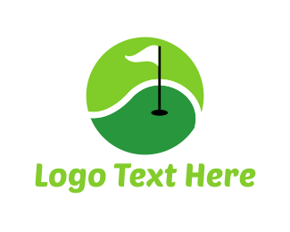 Tennis Ball - Golf & Tennis Sport logo design