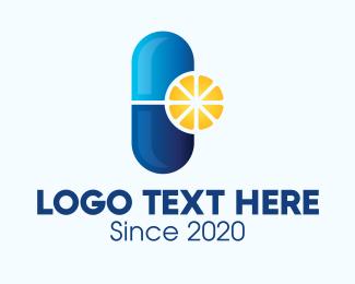 Citrus - Citrus Vitamin Pill logo design