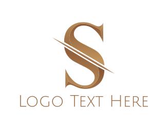 Bronze - Bronze Letter S logo design