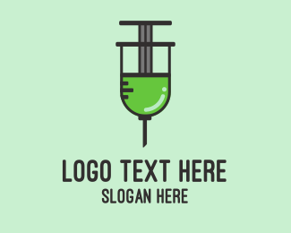 Medical Supplies - Medical Syringe  logo design