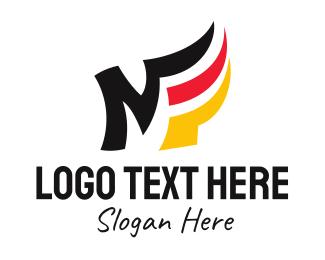 Election - German Flag Letter M  logo design