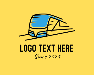 Transport - Express Train Transport logo design
