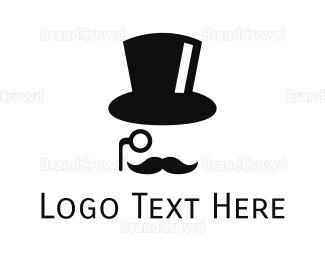 Fedora - Top Hat Gentleman logo design
