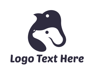 Pet Care - Penguin & Dog logo design
