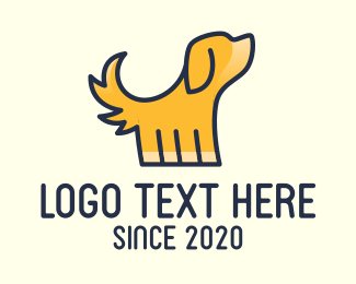 Pet Grooming - Yellow Pet Dog logo design