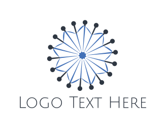 Knit - Needle Star logo design
