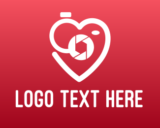 Valentines - Shutter Heart Outline logo design
