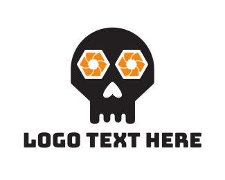 Camera - Shutter Skull logo design