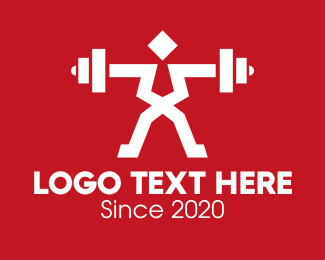 Powerlifting - Fitness Gym Weightlifter logo design