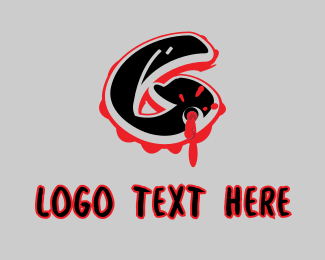 Rap - Splatter Graffiti Letter G logo design