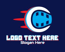 App - Glitch Fast Tennis Ball logo design