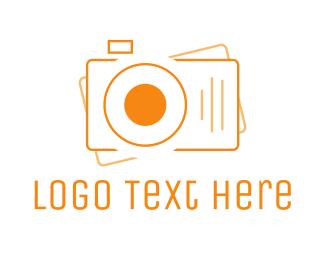 Digicam - Digital Camera Outline logo design