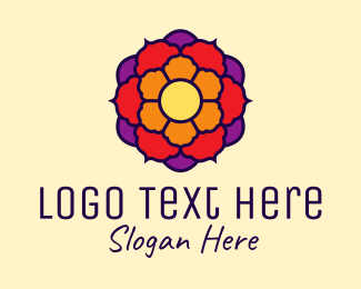 Lotus Flower - Colorful Indian Lotus logo design