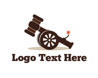 Explosion - Cannon Hammer logo design