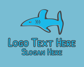 Fin - Angry Shark  logo design