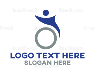 Disability - Abstract Wheelchair logo design