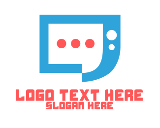 Connectivity - Blue Modern Chat App logo design