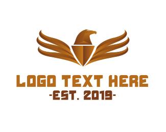 Bronze - Bronze Eagle Emblem logo design