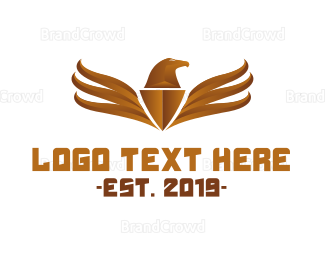 Fortune - Bronze Eagle Emblem logo design