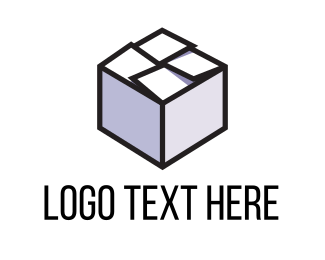 Crate - Grey Box logo design