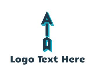 Weapon - Archery Letters logo design