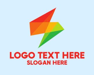 Pointed - Geometric Color Letter S logo design