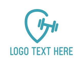 Workout - Gym Location logo design
