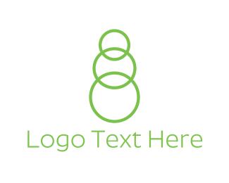 Number 8 - Green Chain logo design