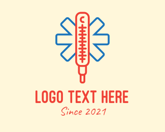 Weigh - Medical Thermometer  logo design